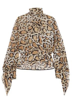 PETAR PETROV Leopard-print silk crepe de chine blouse