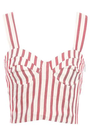 PAPER London Sophie cropped striped woven top