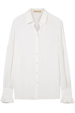 MICHAEL KORS COLLECTION Ruffled silk crepe de chine shirt