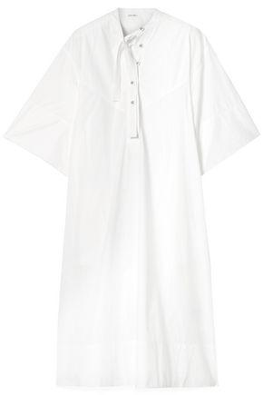 TOMAS MAIER Lace-up cotton-poplin midi dress