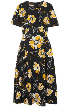 MICHAEL KORS COLLECTION Floral-print silk dress