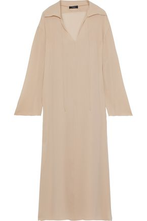 THEORY Silk-georgette maxi dress