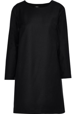 THEORY Brushed-wool mini dress