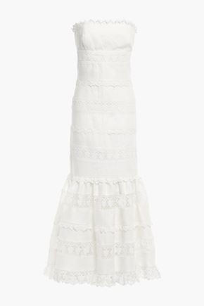 ZIMMERMANN Strapless guipure lace maxi dress