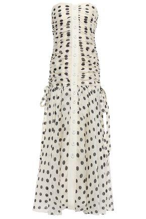 ZIMMERMANN Strapless linen and silk-blend maxi dress
