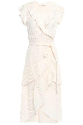 ZIMMERMANN فستان ملتف من الفوال مخيط بأسلوب فيل كوبيه ومزين بتجعيدات رفيعة