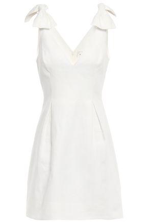 ZIMMERMANN Corsage bow-embellished linen mini dress