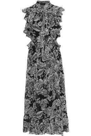 ROBERT RODRIGUEZ Clara floral-print cotton and silk-blend georgette midi dress