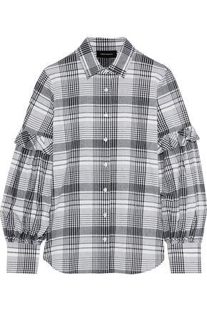 ROBERT RODRIGUEZ Pauline ruffle-trimmed checked cotton shirt