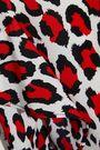 ROBERT RODRIGUEZ Lena wrap-effect leopard-print crepe de chine mini dress