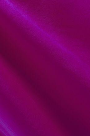 IRO Berwyn pleated organza-trimmed washed-silk camisole