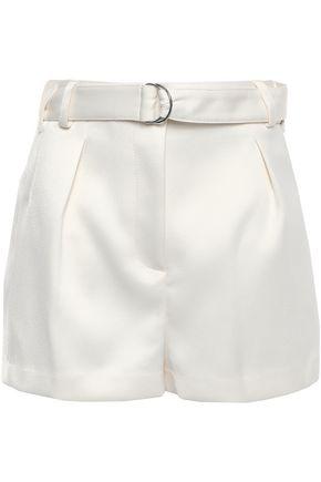 3.1 PHILLIP LIM Belted satin-crepe shorts