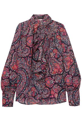 ETRO Ruffled printed silk crepe de chine shirt