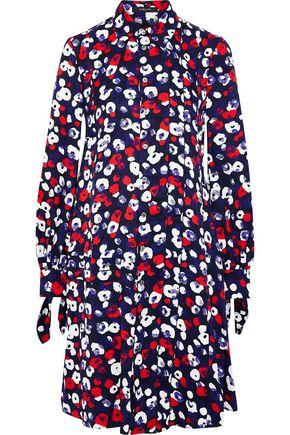DEREK LAM Floral-print silk-jacquard shirt dress