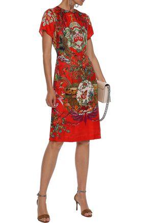 ETRO Printed floral-jacquard dress