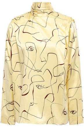 ROKSANDA Tie-neck silk-satin blouse