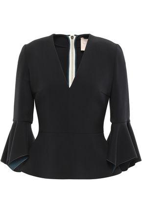 ROKSANDA Ruffled crepe peplum blouse