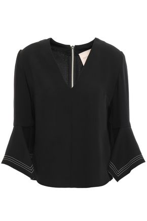 ROKSANDA Silk-crepe top