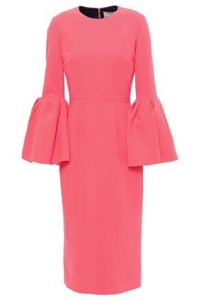 ROKSANDA Fluted satin-crepe midi dress