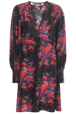 McQ Alexander McQueen Silk-jacquard dress