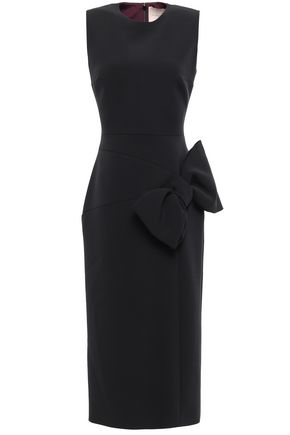 ROKSANDA Bow-embellished cady midi dress