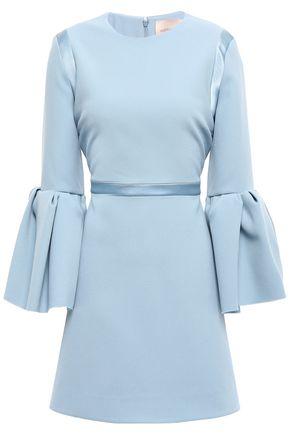 ROKSANDA Fluted satin-trimmed crepe mini dress