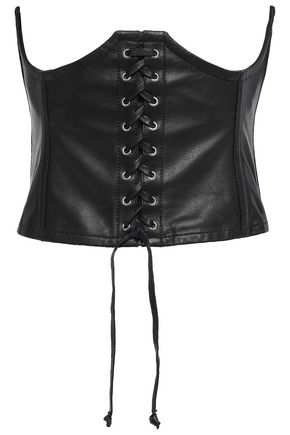 McQ Alexander McQueen Lace-up leather corset