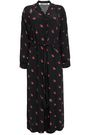 McQ Alexander McQueen Cropped gathered crepe de chine jumpsuit