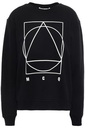 McQ Alexander McQueen Printed French cotton-terry sweatshirt