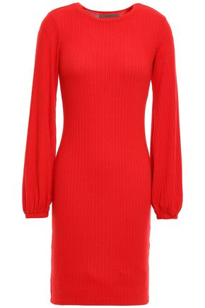 ENZA COSTA Ribbed modal-blend mini dress