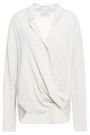 3.1 PHILLIP LIM Wrap-effect crepe blouse