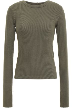 ENZA COSTA Ribbed modal-blend top