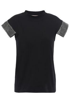 CHRISTOPHER KANE Crystal-embellished cotton-jersey top