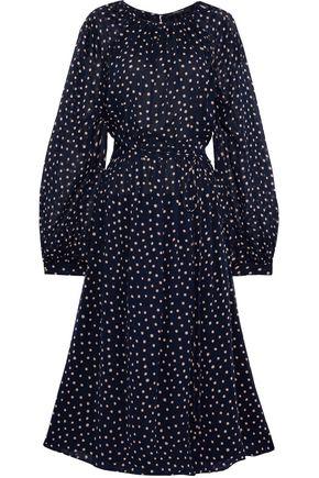 DEREK LAM Belted polka-dot silk-georgette midi dress