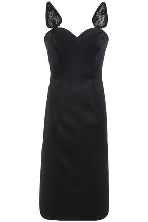 CHRISTOPHER KANE Lace-trimmed satin dress