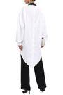 CHRISTOPHER KANE Asymmetric lace-trimmed cotton-poplin shirt