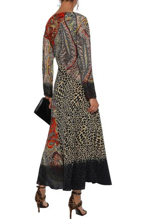 ETRO Chiffon and crepe de chine gown
