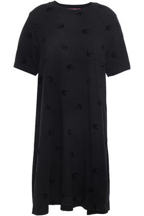 McQ Alexander McQueen Flocked cotton-jersey mini dress