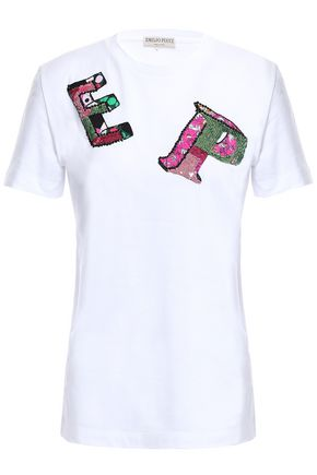 EMILIO PUCCI Appliquéd cotton-jersey T-shirt