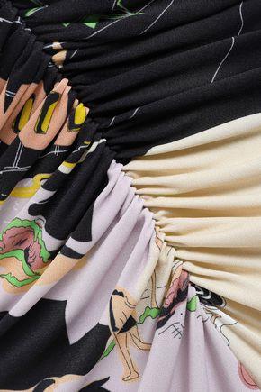 EMILIO PUCCI Ruched printed jersey midi dress