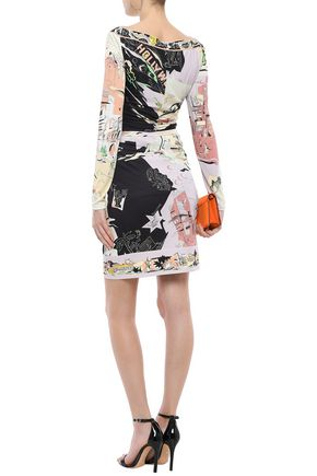 EMILIO PUCCI Ruched printed jersey top