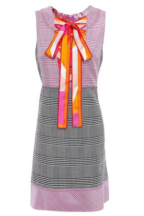 EMILIO PUCCI Lace-up printed woven mini dress