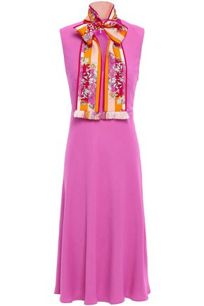 EMILIO PUCCI Pussy-bow stretch-crepe dress