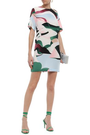 Emilio Pucci Dresses EMILIO PUCCI WOMAN PRINTED SILK CREPE DE CHINE MINI DRESS MULTICOLOR