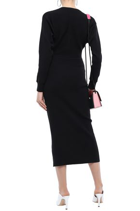 EMILIO PUCCI Ribbed wool midi dress