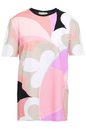 EMILIO PUCCI Printed stretch cotton-jersey T-shirt