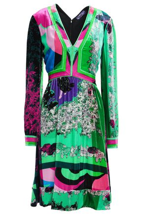 EMILIO PUCCI Gathered printed velvet dress