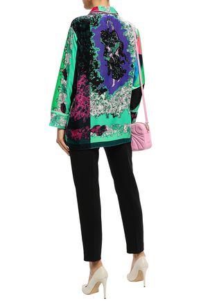 EMILIO PUCCI Floral-print velvet shirt