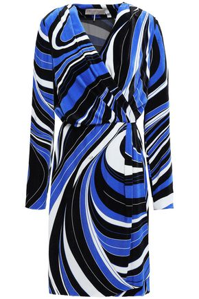 EMILIO PUCCI Velvet wrap dress