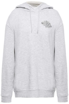 McQ Alexander McQueen Crystal-embellished French cotton-blend terry hoodie
